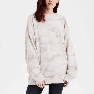 AE Fleece Oversized Vintage Crewneck Sweatshirt